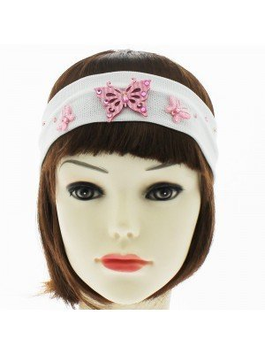 Butterfly Design Headbands - White
