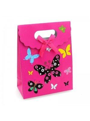 Butterfly & Flowers Design Mini Gift Bags - H12cm x W16cm x D6cm