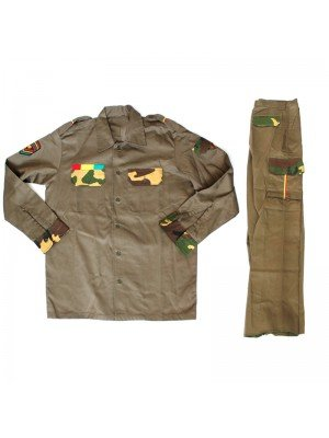 Wholesale Buttoned Shirt Jacket & Trousers - Khaki Green (Assorted Sizes)