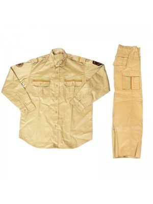 Buttoned Shirt Jacket & Trousers - Beige (Assorted Sizes)
