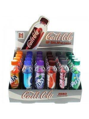 Wholesale Caili Cola Lip Bottle Shape Balms - Assorted Flavours