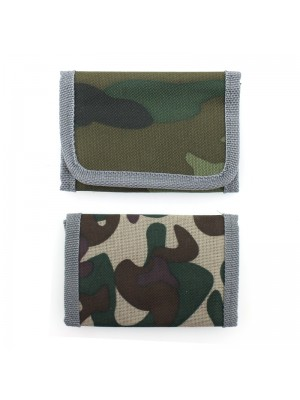 Wholesale Camo Print Wallet With Grey Edges - Assorted Designs