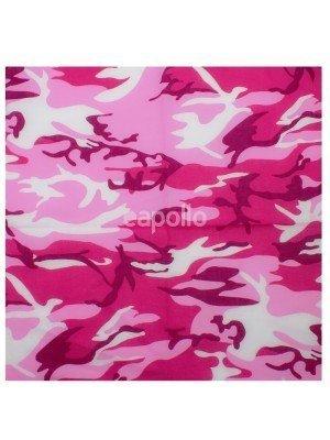 Wholesale Camouflage Print Bandana - Pink