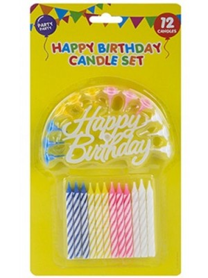 Wholesale Candle Set With Holders & Birthday Sign
