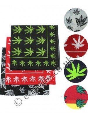 Wholesale Starter Pack Multi Leaf Print Bandanas Assortment