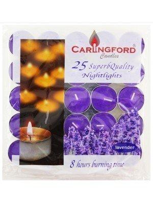 Carlingford Super Quality 25 Tea lights - Lavender