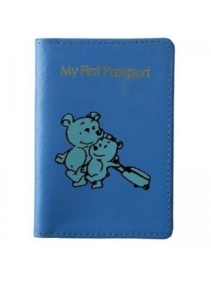 Kids Leather 'My First Passport' Holder (Assorted Colours)