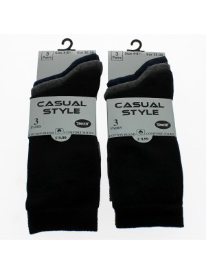 Casual Style Ladies Cotton Blend  Socks - Assorted Colours