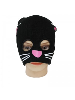 Black Cat Half Face Balaclava