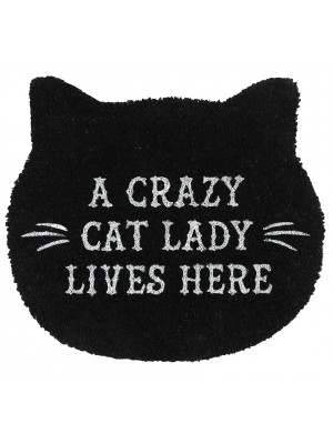 Cat Lady Black Witches Welcome Door Mat