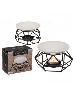 Wholesale Ceramic bowl Metal Oil Burner With Tea Light Holder