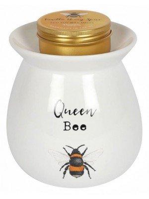 Ceramic Large Queen Bee Wax Melt Burner Gift Set