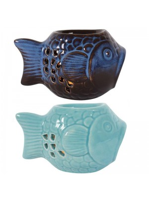 Ceramic Oil Burner Fish Design - Asst. Colours