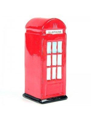 Ceramic Red Telephone Box - Money Box