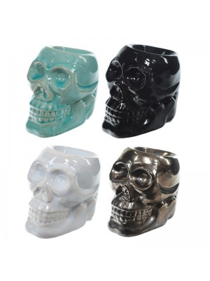 Ceramic Oil Burner (Skull Design) - Assorted Colours