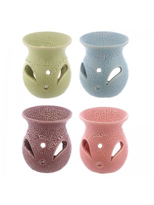 Ceramic Oil Burner With Cut-Out Pattern - Asst. Colours