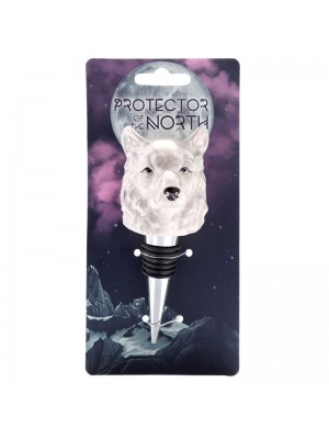Ceramic Protector of the North Wolf Head Bottle Stopper