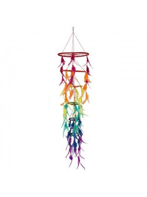 Chakra Multicoloured 3D Dreamcatcher - 100.00cm