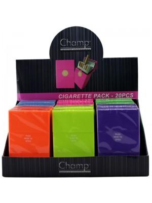 Wholesale Champ Plastic Box - Assorted Colours