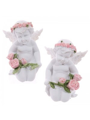 Wholesale Cherubs Holding Roses