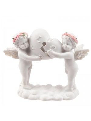 Wholesale Rosebud Love Heart Puzzle Cherub