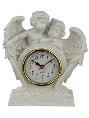 Wholesale Peace of Heaven Endless Love Cherub Mantle Clock