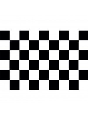 Checkered Flag Black & White 5ft x 3ft