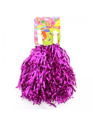 Cheering Squad Pom Poms with Handle - Pink