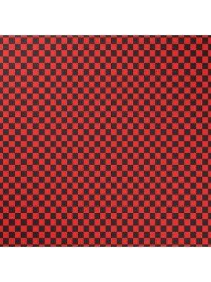 Wholesale Chequered Bandana - Black & Red