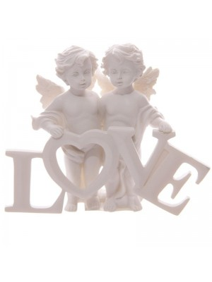 Love Letters Design Cherubs - White
