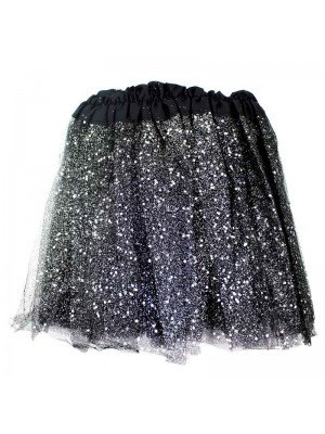 Wholesale Children's Black Glitter Tutu Skirt