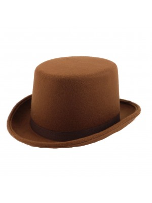Children's Felt Topper Hat - Brown