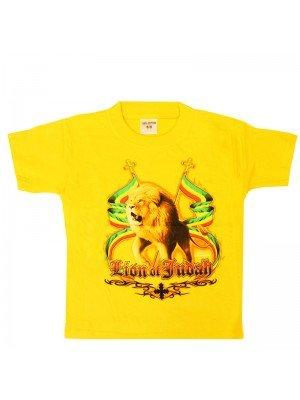 Children's Lion Of Judah Yellow T-Shirt