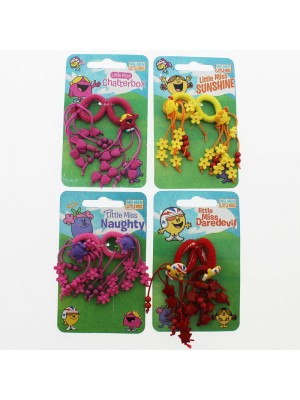 Children's Mr. Man Hair Elastics - Assorted Colours And Designs
