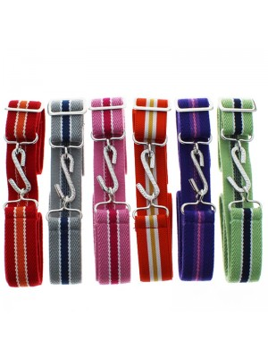 Children's Striped Snake Buckle Belts - Bright Assortment