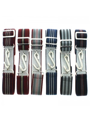 Children's Striped Snake Buckle Braces - Dark Assortment
