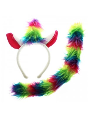 Children's Unicorn Headband & Tail Set