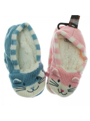 Children's Animal Slippers - Assorted Colours & Sizes