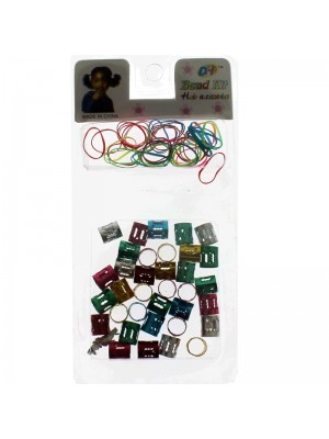Children's Hair Beads and Elastics-Assorted Colours