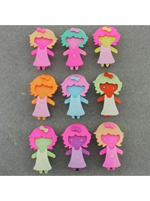 Children's Cute Baby Girl Shaped Hair Clips - Assorted