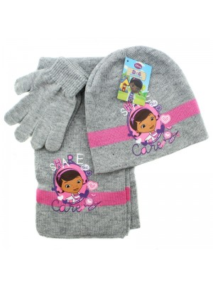 Children's Disney Dr McStuffins Scarves Gloves and Hat Set - Grey