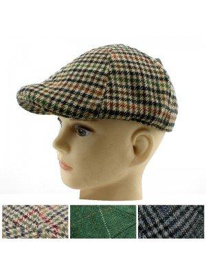 Children's Tweed Design Flat Caps- Assorted Designs