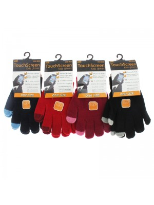 Children's Touch Screen Gloves - Assorted Colours (One Size)