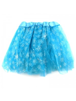 Children's Turquoise Tutu Skirt - Snowflake Design