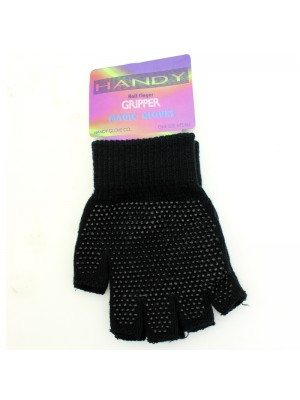 Childrens Fingerless Magic Gripper Gloves - Black