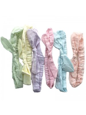 Childrens Elastic Headbands with Bow - Assorted Colours