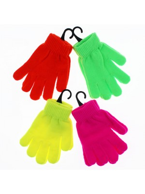 Children's Neon Magic Gloves - Assorted Colours