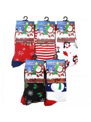 Childrens Christmas Socks Assorted Designs 12.5-3.5