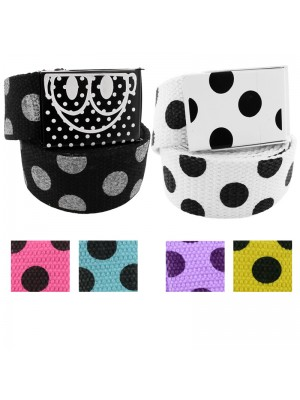 Childrens Polka Dot Canvas Belt - Assorted Colours