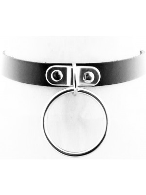 Wholesale Leather Neckband With Large Ring